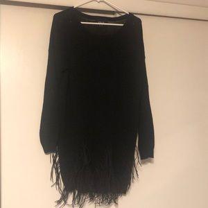 Sweater Dress with Fringe